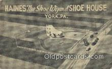 rds001042 - Shoe House York, PA USA Haines the Shoe Wizard Road Side Postcard Post Cards