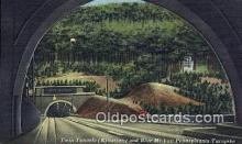 rds001050 - PA Turnpike Road Side USA Twin Tunnels (Kittatinny & Blue Mt.) Road Side Postcard Post Cards