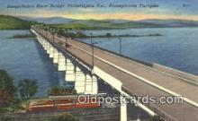 rds001056 - Philadelphia Ext., PA USA Susquehanna River Bridge Road Side Postcard Post Cards