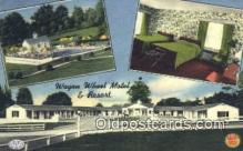 rds001065 - Alexandria, Virginia USA Wagon Wheel Motel Road Side Postcard Post Cards
