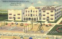 rds001070 - Virginia Beach, Virginia USA Martha Washington Hotel & Appartments Road Side Postcard Post Cards