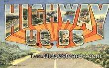 rds001087 - Highway U.S. 85 Road Side Postcard Post Cards