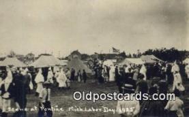 rea000002 - Pontiac, Michigan Labor Day 1925 Ku Klux Klan Postcard Old Vintage Antique