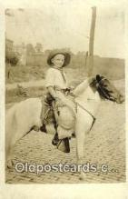 rea003001 - Cowboy on Pony Real Photo Postcard Postcards
