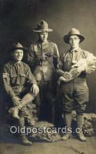 rea005111 - Military, Doll & Gun Real Photo Postcard Postcards