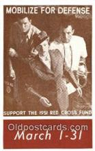 red001078 - Mobilize for Defense Support the 1951 Red Cross Fund,  Postcard Postcards