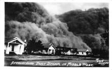 rep010003 - Approaching Dust Storm, Mid-West Real Photo Postcard Postcards