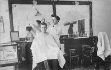 rep010007 - Barber Shop Real Photo Postcard Postcards