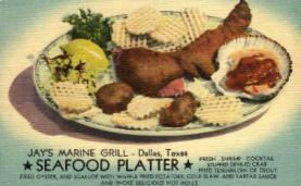 res001006 - Jay's Marine Grill, Dallas Texas, USA Restaurant, Diner Postcard Postcards