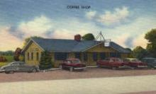 res001007 - Lodge Coffee Shop 40 miles West Wheeling, West Virginia, USA  Located on US Route 40 near Columbus Ohio and Wheeling, West Virginia, Restaurant, Diner Postcard Postcards