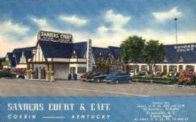 res001009 - (Original KFC) Sanders Court & Café, Corbin Kentucky, USA  Asheville, NC USA, Restaurant, Diner Postcard Postcards