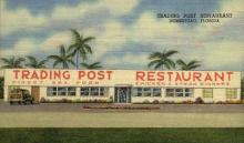 res001026 - Trading Post, Homestead, Florida, USA, Restaurants, Diners Postcard Postcards