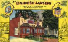 res001033 - Chinese Lantern, Washington, DC, USA, Restaurants, Diners Postcard Postcards