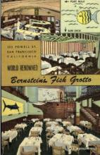 res001038 - Bernstein's Fish Grotto, 123 Powell St. San Francisco, California, USA Restaurants, Diners Postcard Postcards