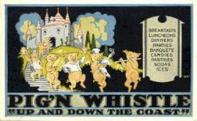 res001047 - Pig'N Whistle  Postcard Post Cards Old Vintage Antique
