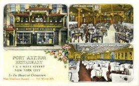 res001048 - Port Arthur Restaurant New York City, USA Postcard Post Cards Old Vintage Antique
