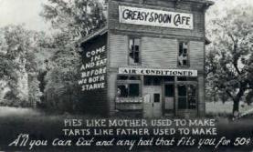 res001051 - Greasy Spoon Café  Postcard Post Cards Old Vintage Antique