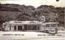res001057 - Imboden's Drive Inn Manitou Springs, CO, USA Postcard Post Cards Old Vintage Antique
