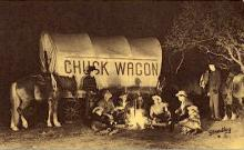 res001067 - Jaycee Chuck Wagon Dinners Colorado Springs, CO, USA Postcard Post Cards Old Vintage Antique
