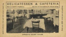 res001073 - Delicatessen & Cafeteria Colorado Springs, CO, USA Postcard Post Cards Old Vintage Antique
