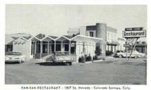 res001094 - Ran San Restaurant Colorado Springs, CO, USA Postcard Post Cards Old Vintage Antique