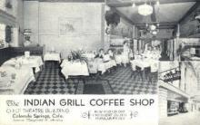 res001101 - Indian Grill Coffee Shop Colorado Springs, CO, USA Postcard Post Cards Old Vintage Antique