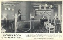 res001104 - Pioneer Room of the Indian Grill Colorado Springs, CO, USA Postcard Post Cards Old Vintage Antique
