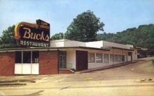 res001139 - Bucks Restaurant Asheville, NC, USA Postcard Post Cards Old Vintage Antique