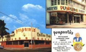 res001140 - Pumpernik's Restaurant Sandwich Shop Pantry Miami Beach, FL, USA Postcard Post Cards Old Vintage Antique