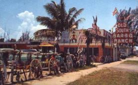 res001141 - Old South Bar B Q Ranch Florida, USA Postcard Post Cards Old Vintage Antique