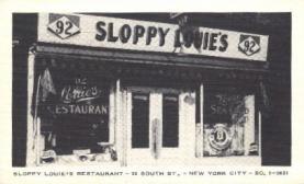 res001148 - Sloppy Louie's Restaurant New York City, USA Postcard Post Cards Old Vintage Antique