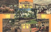 res001158 - Wagon Wheel Rockton, IL, USA Postcard Post Cards Old Vintage Antique