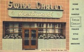res001159 - Swiss Chalet Restaurant Colorado Springs, CO, USA Postcard Post Cards Old Vintage Antique