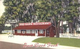 res001182 - Red Barn, Lake Hawahta, Mo. USA Restaurant & Diner Postcard Postcards