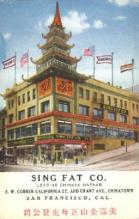 res001203 - Sing Fat, Los Angeles, California, USA Restaurant & Diner Postcard Postcards