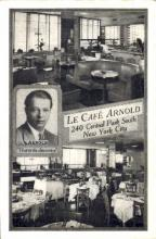 res001214 - Le Café Arnold New York City, USA Postcard Post Cards Old Vintage Antique