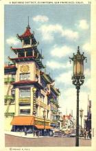 res001222 - Chinatown San Francisco, CA, USA Postcard Post Cards Old Vintage Antique