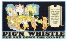 res001231 - Pig'N Whistle  Postcard Post Cards Old Vintage Antique