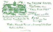 res001232 - The Fallow House Plumsteadville, PA, USA Postcard Post Cards Old Vintage Antique