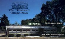 res001240 - The Historic Village Diner New York, USA Postcard Post Cards Old Vintage Antique