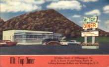 res001260 - Mt Top Diner Washington, DC, USA Postcard Post Cards Old Vintage Antique