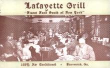 res001266 - Lafayette Grill Brunswick, GA, USA Postcard Post Cards Old Vintage Antique
