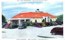 res001270 - Hotel Shoppes Drive In Restaurants Baltimore, MD, USA Postcard Post Cards Old Vintage Antique