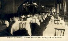 res001271 - Real Photo Park View, Luchow's German Restaurant New York, USA Postcard Post Cards Old Vintage Antique