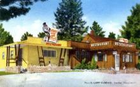 res001272 - It's Cedar Lodge Templeton, MA, USA Postcard Post Cards Old Vintage Antique