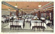 res001273 - Hotel Rooslyn Dining Room Los Angeles, CA, USA Postcard Post Cards Old Vintage Antique