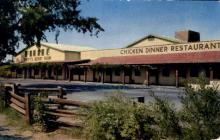 res001317 - Mrs Knott's Chicken Dinner Restaurant Ghost Town, CA, USA Postcard Post Cards Old Vintage Antique