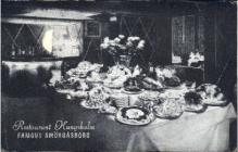 res001319 - Restaurant Kungsholm Famous Smorgasbord New York City, USA Postcard Post Cards Old Vintage Antique