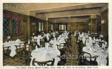 res001336 - The Clover Room Hotel Bristol, New York City, NYC USA Restaurant Old Vintage Antique Postcard Post Cards
