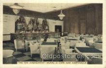 res001352 - Café Bar Martinique, New York City, NYC USA Restaurant Old Vintage Antique Postcard Post Cards